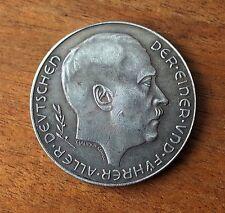 GERMAN REICHSMARK EXONUMIA COIN 1938 THIRD REICH WW2 HITLER