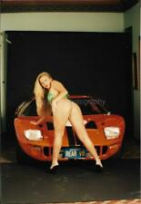 Bikini Girl CAR MODEL Pretty Blonde Woman FOUND PHOTO Color Original 99 10 E