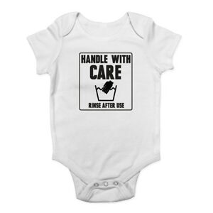 Handle with Care - Rinse after use Boys Girls Baby Grow Vest Bodysuit
