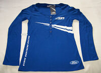 Stone Brothers Racing SBR Ford Ladies Blue Long Sleeve T Shirt Size 12 New