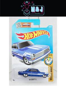 Hot Wheels '63 Chevy II Blue Muscle Mania 8/10 128/250 *Rare* (Aussie Seller)