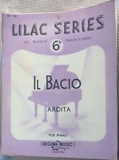 Rare Vintage Original Uk Sheet Music, Il Bacio, Piano, Lilac Series