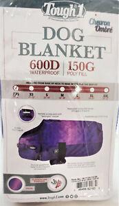 Waterproof Dog Blanket 600D Chevron Purple Coat Jacket Tough1 Clothes Deluxe New