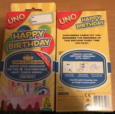 *Uno Happy Birthday Decks*2 Complete Decks*New and Factory Sealed*Free Shipping*