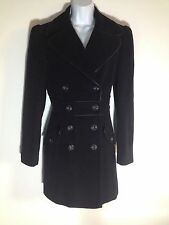 Next Size 12 Vintage Style 40s 50s WW2 Sweetheart Land Girl Princess Coat Black
