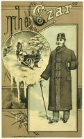 The Czar Top Coat Jessup & Co Broadway NY New York Opposite City Hall Trade Card