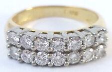 ~ 0.56 ct 18K Yellow Gold Two-Row Round Diamond Wedding Anniversary Fashion Band