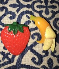 2 Urban Outfitters FRUIT Hair Clips Barrettes Barrette