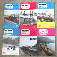 TRAINS ILLUSTRATED MAGAZINE / VINTAGE /6 ISSUES 1960 /JAN/JULY/AUG/SEP/OCT/NOV