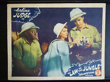 1942 LAW OF THE JUNGLE - GREAT MANTAN MORELAND LOBBY CARD - BLACK AMERICANA