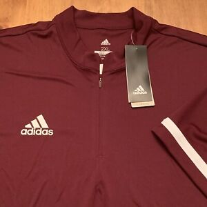NEW Men's ADIDAS Collarless Golf Polo Shirt Sz XXL