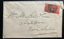 1903 England Commercial Cover Perfin Stamp To Halifax Canada