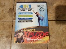 New Nip Bosu 4 in 1 Complete Body Workout Bonus Dvd Cross Training Xplode