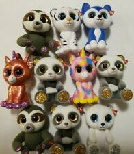 Lot 10 Ty Beanie Boos Mini Boo Hand Painted Collectible SERIES 1 & 4 Figurines