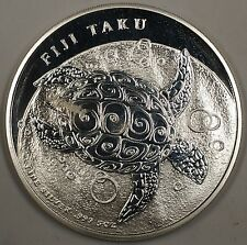 2013 Fiji Taku Ten Dollar Coin 5 Ounces of .999 Silver Brilliant Uncirculated