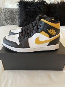 Size 8.5 (W 10) Air Jordan 1 Mid Nike White/ Black/Pollen