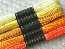 Embroidery Cross Stitch Thread Floss Stranded Cotton ~ Yellow & Orange   Ref.12