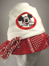 Vtg Mickey Mouse Club RARE BUCKET Hat Cap Retro Disneyland Western Spin & Marty?