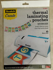 Scotch Thermal Laminating Pouches Letter Size 3M High Quality Clear 3 MIL-15 ct