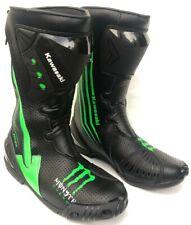 Kawasaki Motorbike MotoGP Leather Racing Boots