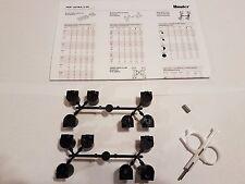 Hunter I-20 / PGP Ultra Nozzle Kit - 2 Black Nozzle racks, Hex Screw, Key, Guide