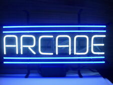 "Arcade Blue Game Neon Lamp Sign 17""x14"" Bar Light Garage Cave Glass Artwork"