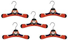 Promo Kidorable Kids Set Of 5 Children's Red Clown Wooden Coat Clothes Hanger