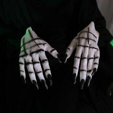 Halloween Props Dressing Party Party Dress Up   Horror Female White Ghost Gloves