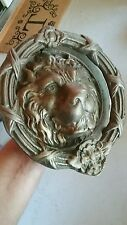 """Lion Head old Door Knocker - Large - 7.5"""" - Brass Eastlake Antique Hardware"""