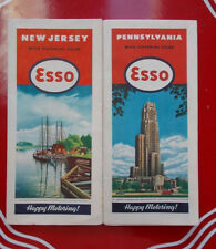 1946 ESSO Road Maps & Pictorial Guides Pennsylvania & New Jersey VGCond