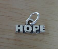 Small Sterling Silver 7x13mm says Hope Holiday Christmas Charm