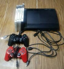 PS3 Playstation 3 Slim 2 Dualshock Controllers 5 Games CECH-4001B Tested Works