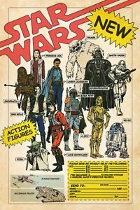 Star Wars - Poster (Action Figures - Darth Vader, Boba Fett & Luke Skywalker)