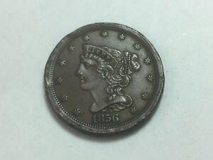 1856 Braided Hair Half Cent