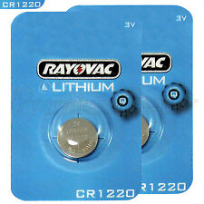2 x Rayovac Lithium CR1220 batteries 3V Coin Cell KRC1220 BR1220 DL1220 EXP:2021