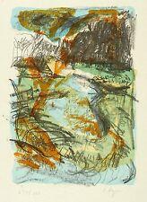 SYLVIA HAGEN - Landschaft I - Farblithografie 2001