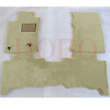 3x Car Front Seat Floor Mat Carpet Pad Beige Cover Trim For Lexus GX470 2003-09