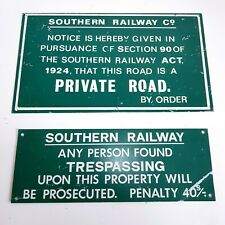 More details for vintage southern railway co. reproduction metal signs