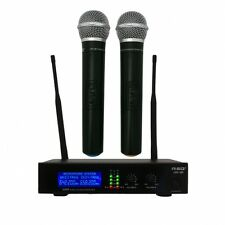 NEW RSQ UHF-380 WIRELESS MICROPHONES PROFESSIONAL, KARAOKE, PA SYSTEMS etc.