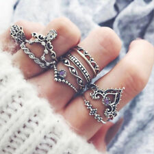 10Pcs/ Set Retro Arrow Moon Midi Finger Knuckle Rings Boho Fashion Woman Jewelry