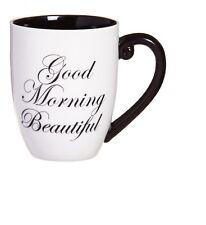 Black ink - Good Morning Beautiful Coffee Mug - Wife - Mother - Girlfriend Gift