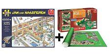 Pack Puzzle Jumbo 19030. Jan Van Haasteren. Christmas. 1000 piezas+ tapete