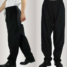 Chef Men Pants Mens Trouser Work Pants Kitchen Restaurant Staff Formal Black
