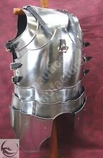 Medieval Armor Reenactment Segments Breastplate Gothic 18G Western Plate Cuirass