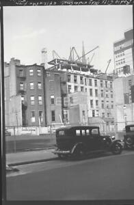 1933 Radio City Construction 49th St @ 5th Av Manhattan NYC Photo Negative T75