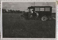 PHOTO ANCIENNE - VINTAGE SNAPSHOT - MILITAIRE CAMION TÉLÉGRAPHISTE - TRUCK 1932