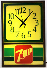 Vintage 7-up Lighted Wall Clock Lot 1158