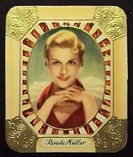 Renate Müller 1934 Garbaty Film Star Series 1 Embossed Cigarette Card #19