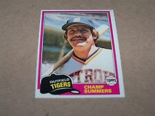 DETROIT TIGERS CHAMP SUMMERS 1981 TOPPS #27