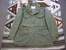 VTG 40s US Army M-1943 M43 Cotton Field Coat Jacket OD 7 34 Short M51 M65 (L48